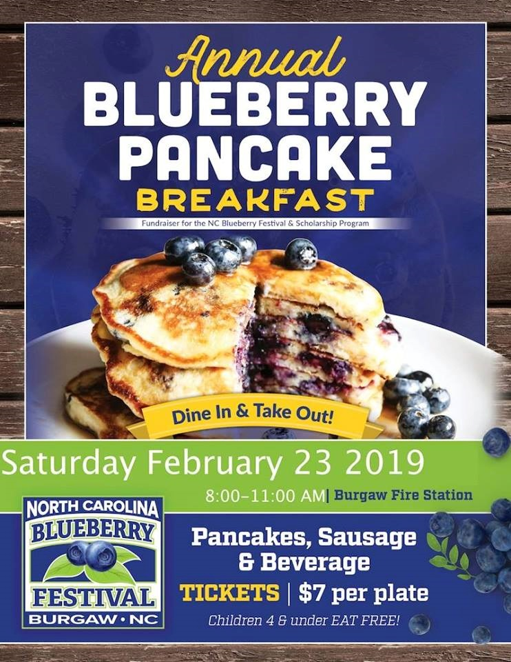 The NC Blueberry Festival Pancake Breakfast Fundraiser