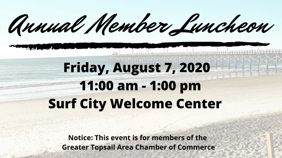 The Greater Topsail Area Chamber of Commerce Annual Member Luncheon