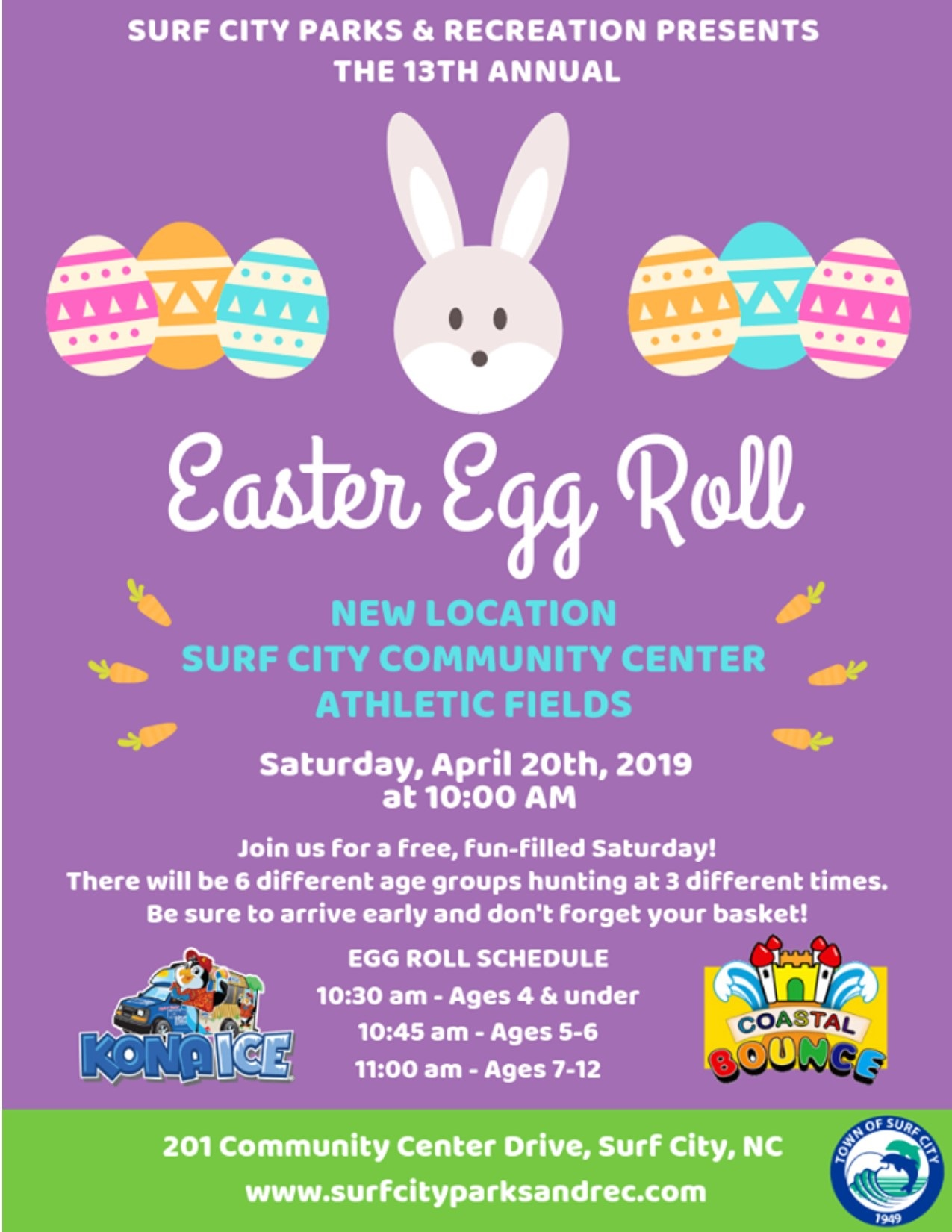 Surf City's Annual Easter Egg Roll