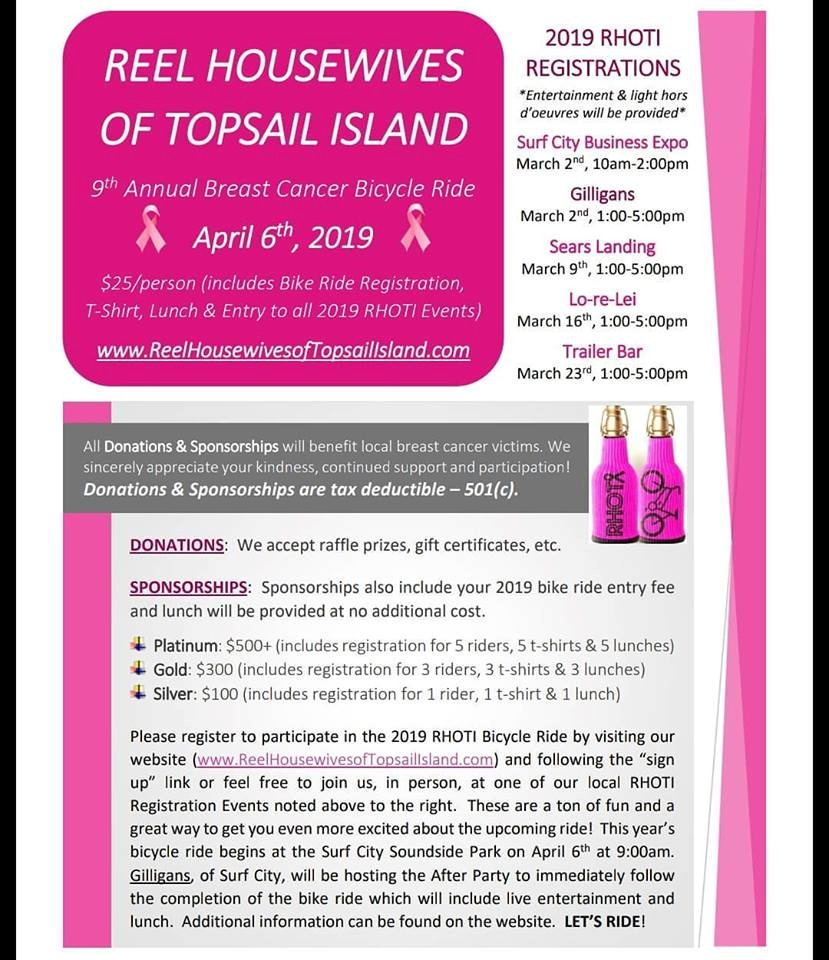 Reel Housewives of Topsail Island Bike ride