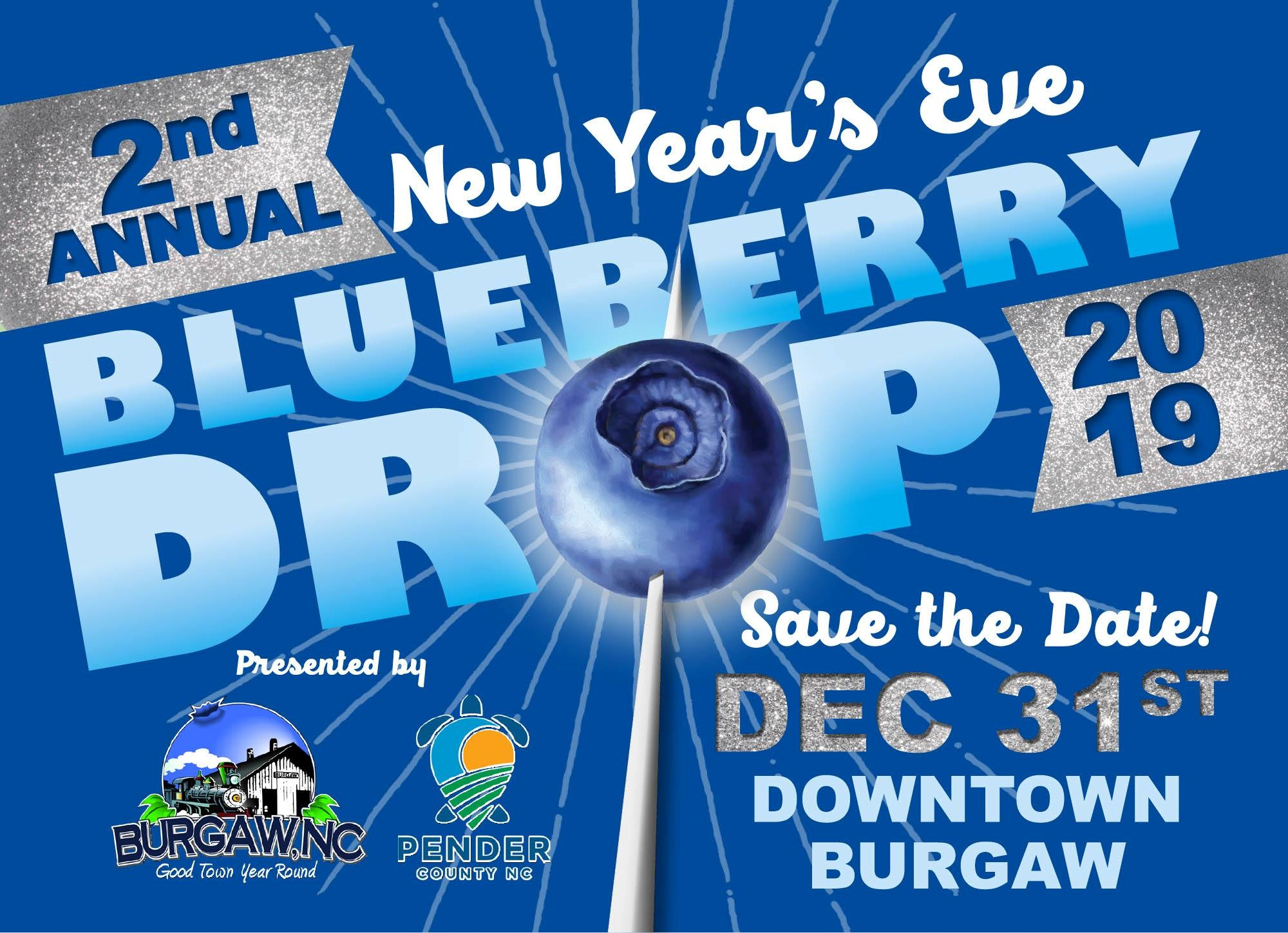 New Year's Eve Blueberry Drop