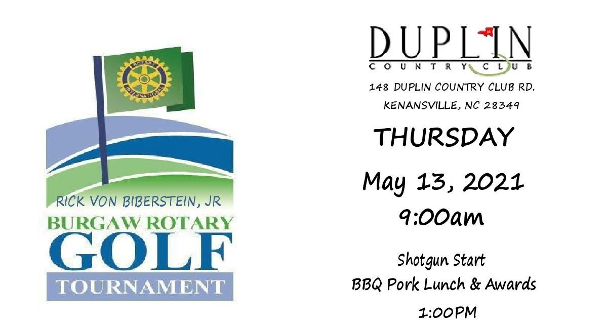 Burgaw Rotary Golf Tournament